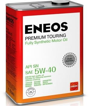 ENEOS Premium TOURING SN 5W-40 4л Масло моторное Синтетическое