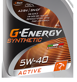 G-Energy Synthetic Active 5w40 SN/CF  1 л (масло синтетическое)