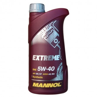 MANNOL Extreme SAE 5W-40 (1л.) Синт.моторное масло API SN/CF;ACEA A3/B4;MB 229.3 /226.5;VW502.00/505