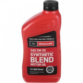 FORD MOTORCRAFT 5W30 Масло моторное  Synthetic blend  0,946л п/с  USA 714394